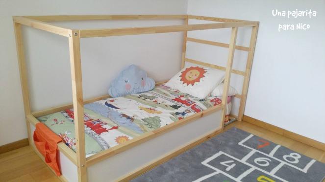 DIY Cama casita montessori con cama Kura – Una Pajarita para Nico